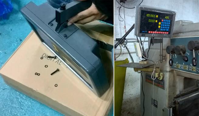 Lắp màn hình thước quang máy phay