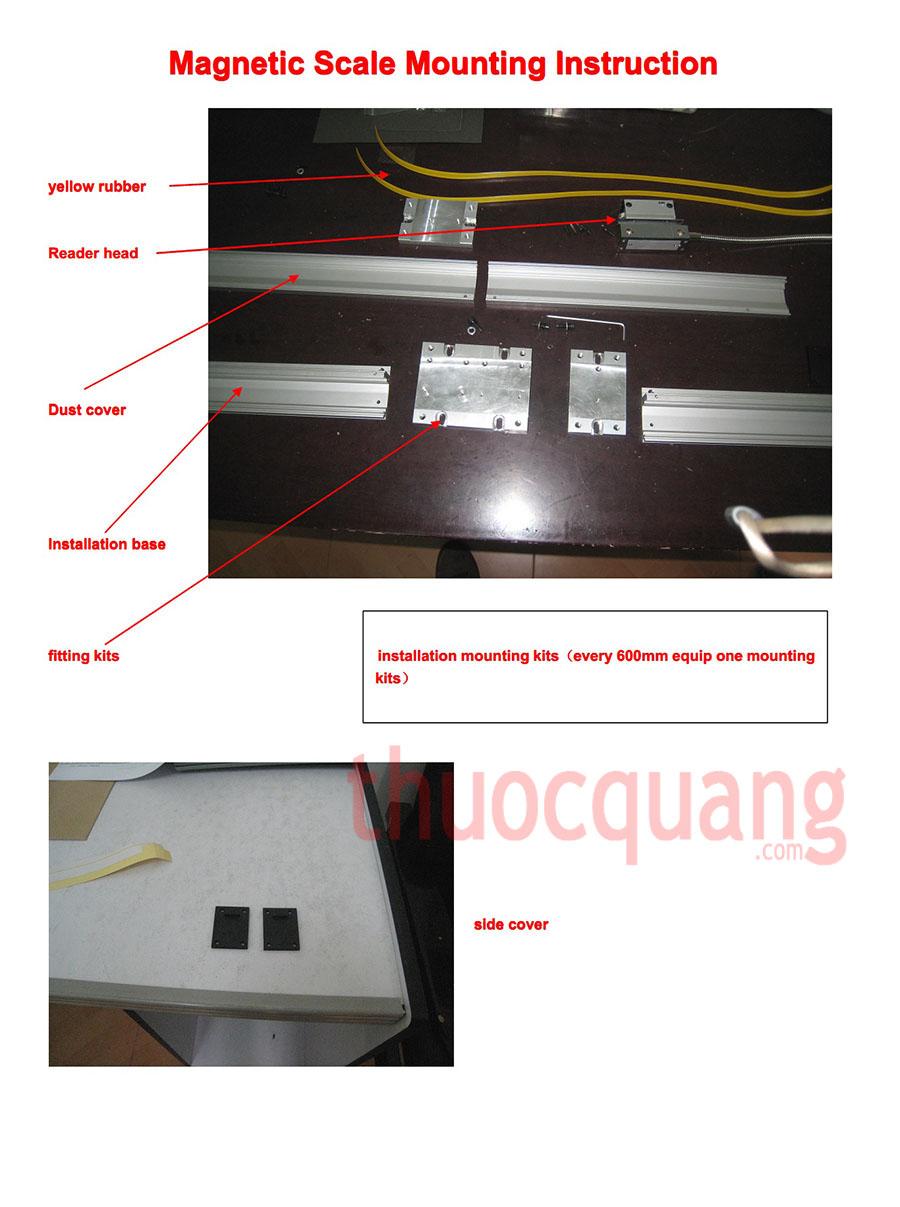 Chi tiết các bước lắp thước từ - Bước 1